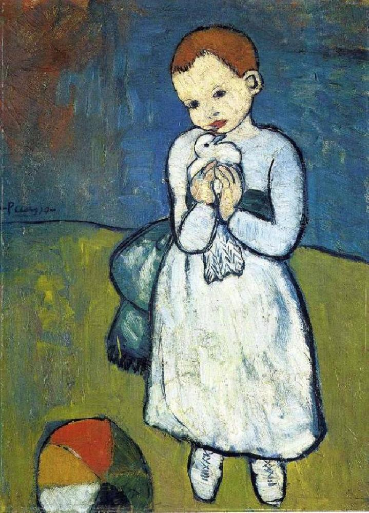 Pablo Picasso, Child Holding a Dove Oil Painting